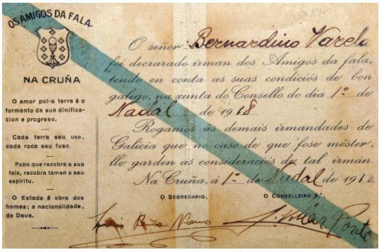 Carnet das Irmandades da Fala de 1917