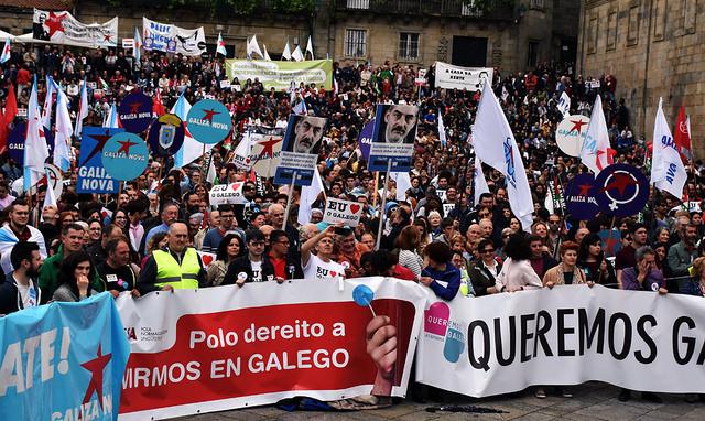 Foto da manifestación de Queremos Galego 2017