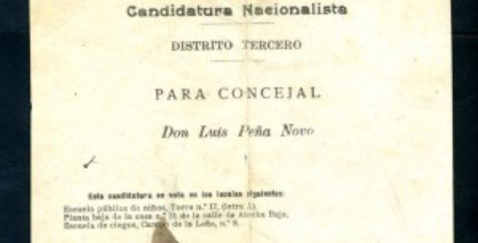 Candidatura nacionalista de Luis Peña Novo