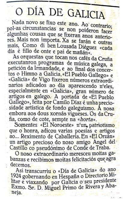 O Día de Galiza na prensa