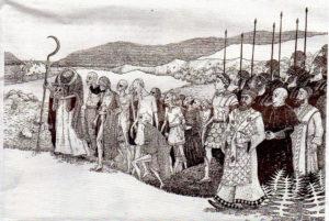 Prisciliano presidindo a Alba de Groria de Castelao