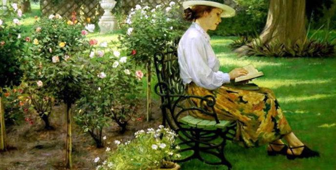 Allan Banks: lendo nunha tarde soleada