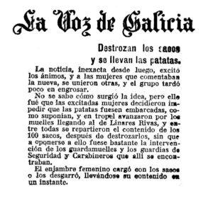 La Voz de Galicia, 19 de xaneiro de 1918
