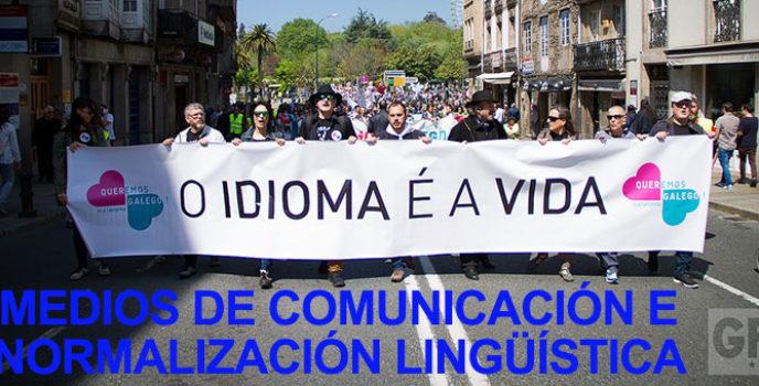 Medios de comunicación e normalización lingüística