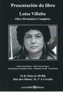 Presentación da obra dramática completa de Luísa Villalta