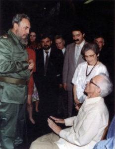 Neira Vilas e Anisia con Fidel Castro