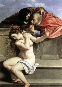 Artemisia Gentileschi. Susana e os vellos