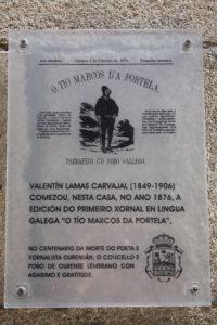 Placa en Ourense