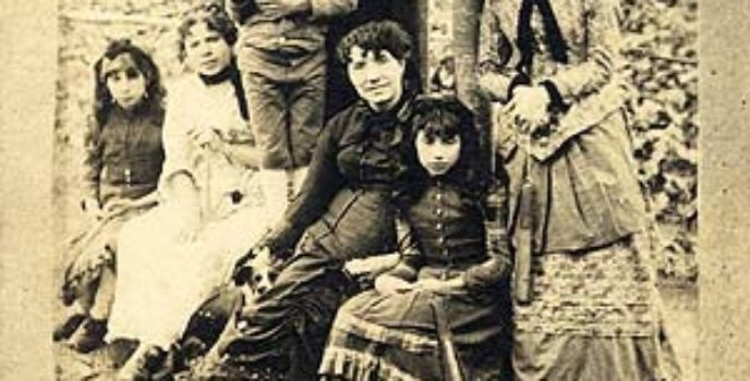 Rosalía coa familia na Matanza
