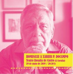 Cartaz homenaxe Docampo