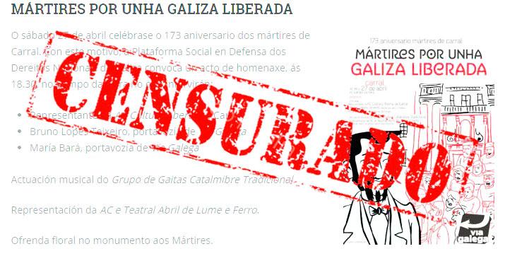 Mártires por unha Galiza liberada - Censurado